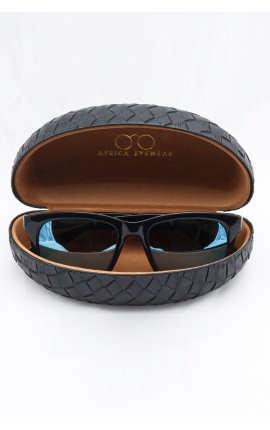 Солнцезащитные очки черные глянцевые