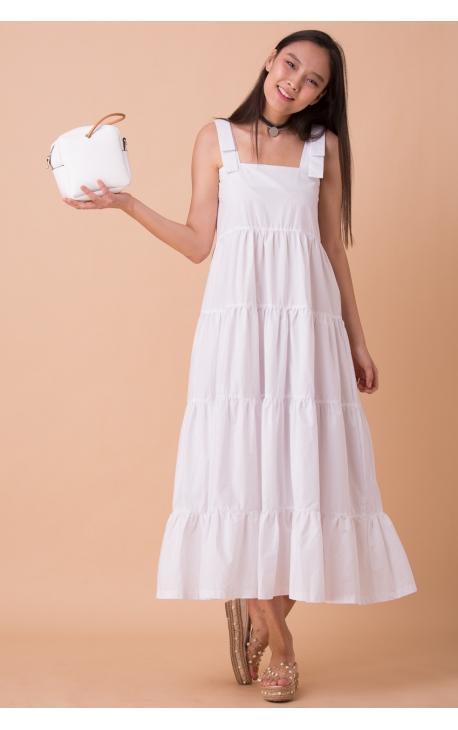Платье-сарафан с широкой юбкой-макси