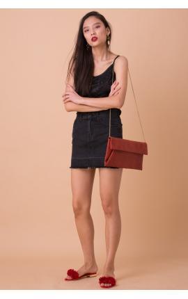 Юбка-мини джинсовая черная