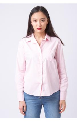 Рубашка однотонная розовая