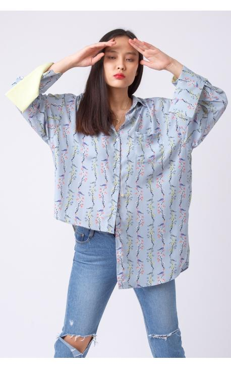 Рубашка-туника асимметричная