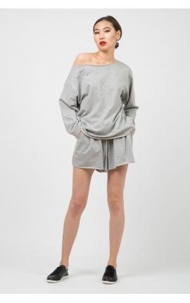 Спорт-костюм с шортами Sin Prosa Sin Pausa серый