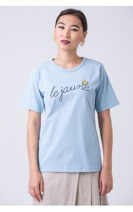 Футболка Le Jaune голубая